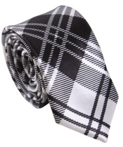 black_white_plaid_skinny_tie_australia_au