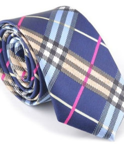 blue_gold_pink_plaid_skinny_tie