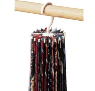 rotating tie rack