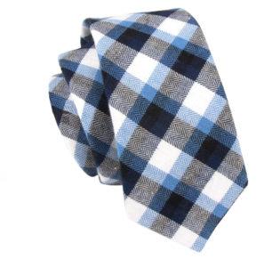 black_and_blue_cotton_skinny_tie_rack_australia_au