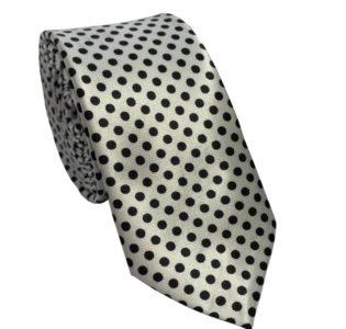 black_and_white_polka_dot_skinny_tie_austraia_au