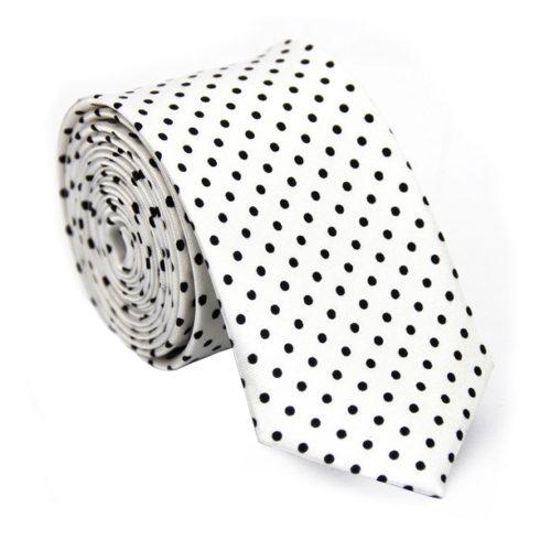 black_white_polka_dot_skinny_tie_online_australia