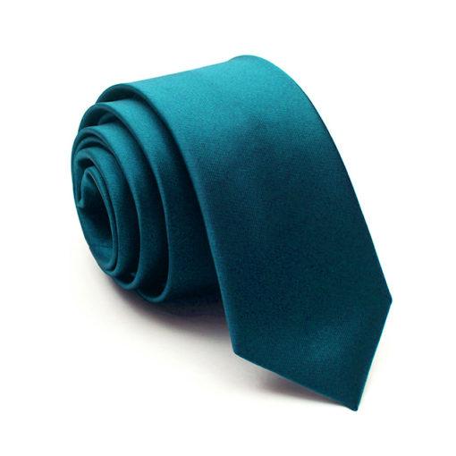 aegean_blue_solid_skinny_tie_rack_australia_au
