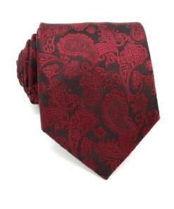 red_black_paisley_neck_tie_rack_australia