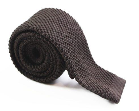 Dark Brown Knit Tie australia au