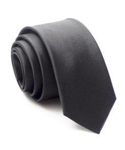 dark_grey_solid_skinny_tie_rack_australia_au