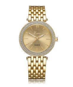 yellow-gold-quartz-womens-watch