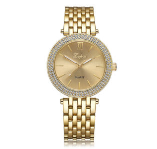 yellow-gold-quartz-womens-watch