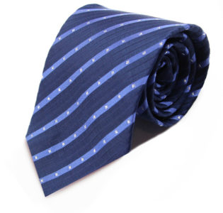 Navy and Light Blue Striped Neck Tie
