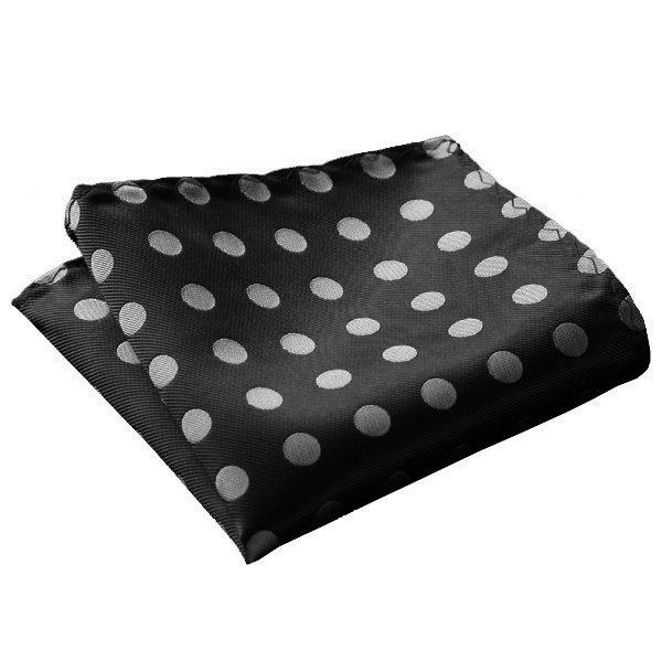 black_silver_polka_dot_pocket_square_tie_rack_australia_au
