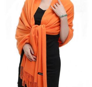 orange_pashima_unisex_scarf_tie_rack_australia_au