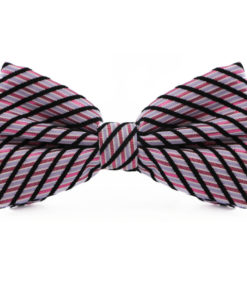 Blue_Black_Silver_Striped_Cotton_Bow_Tie_rack_australia_au