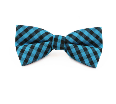 aqua_black_checkered_cotton_bow_tie_rack_australia_au
