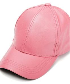 pink_faux_leather_baseball_cap_tie_rack_australia_au_aus