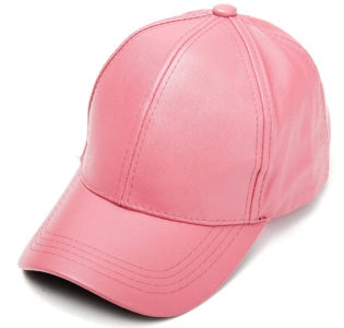 pink_faux_leather_baseball_cap_tie_rack_australia_au_aus