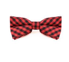 red_black_checkered_cotton_bow_tie_rack_australia_au