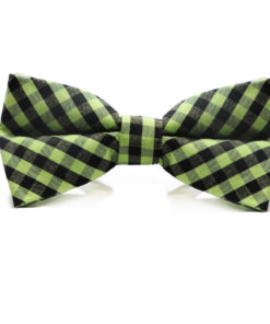 green_black_checkered_cotton_bow_tie_rack_australia_au