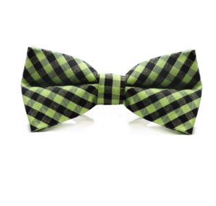 green_black_checkered_cotton_bow_tie_rack_australia_au