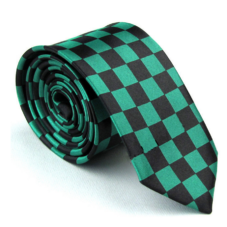green_black_checkered_skinny_tie_rack_australia_online