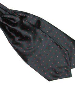 Black and Red Silk Polka Dot Cravat tie rack australia