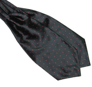 Black and Red Silk Polka Dot Cravat tie rack australia