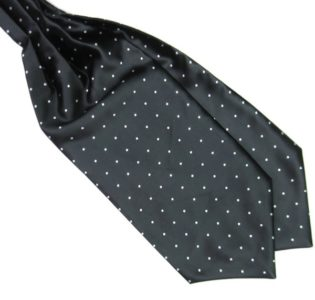 Black and White Silk Polka Dot Cravat tie rack australia