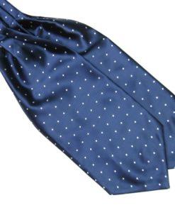 Blue Silk Polka Dot Cravat tie rack australia