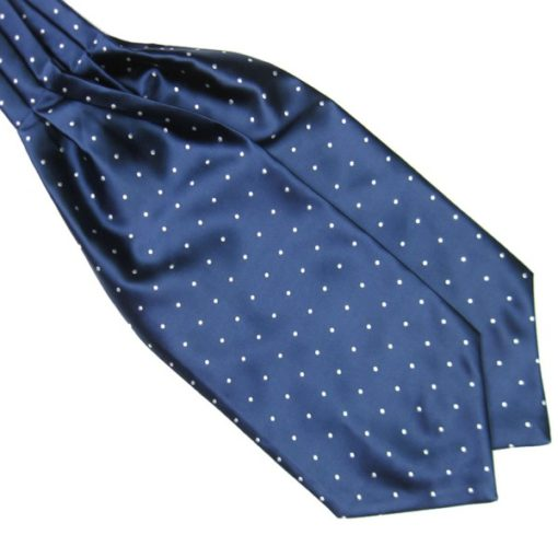 Blue Silk Polka Dot Cravat tie rack australia