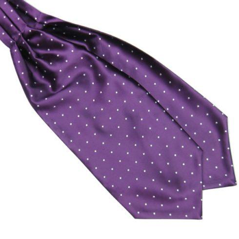 Purple Silk Polka Dot Cravat tie rack australia