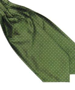 green Silk Polka Dot Cravat tie rack australia