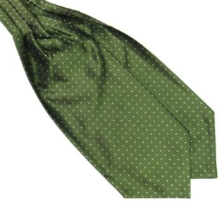 green Silk Polka Dot Cravat tie rack australia