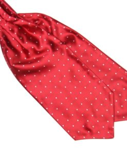 red Silk Polka Dot Cravat tie rack australia