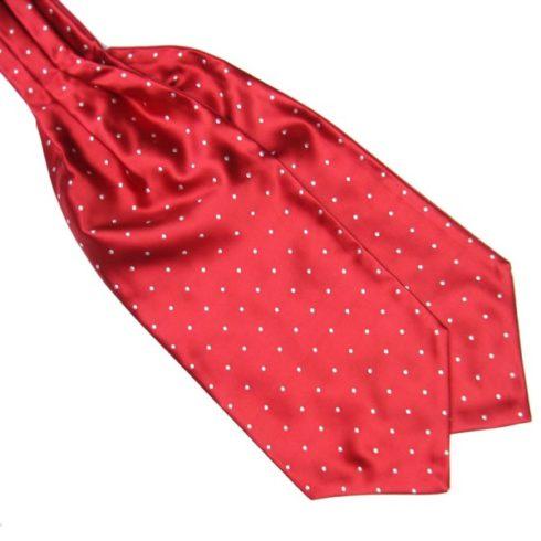 red Silk Polka Dot Cravat tie rack australia