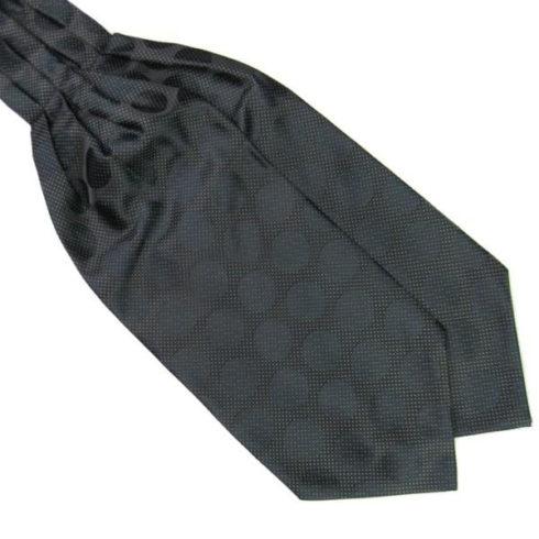 black_large_polka_dot_cravat_tie_rack_australia_online