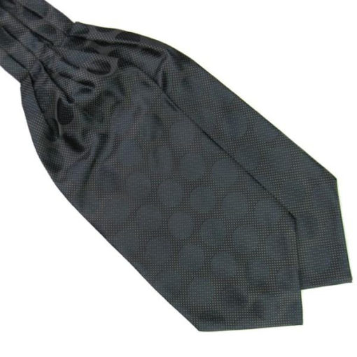 black_large_polka_dot_cravat_tie_rack_australia_online