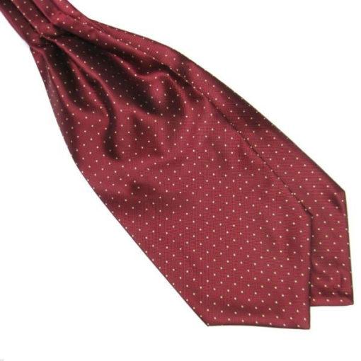 maroon_white_polka_dot_cravat_tie_rack_australia_online