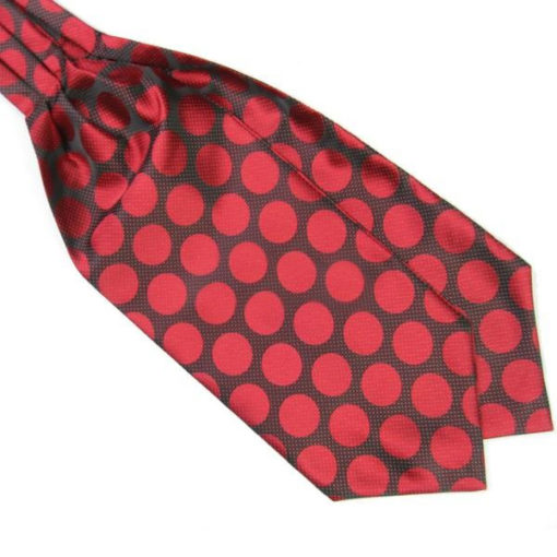 red_polka_dot_cravat_tie_rack_australia_online