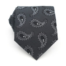 black_white_paisley_dot_neck_tie_rack_australia