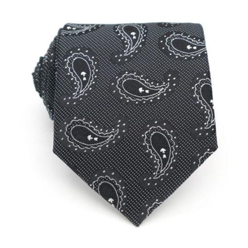 black_white_paisley_dot_neck_tie_rack_australia