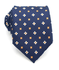 navy_orange_floral_tie_rack_australia