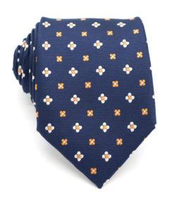 navy_orange_floral_tie_rack_australia