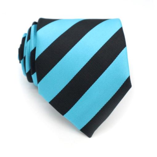 striped sky blue and black tie rack australia