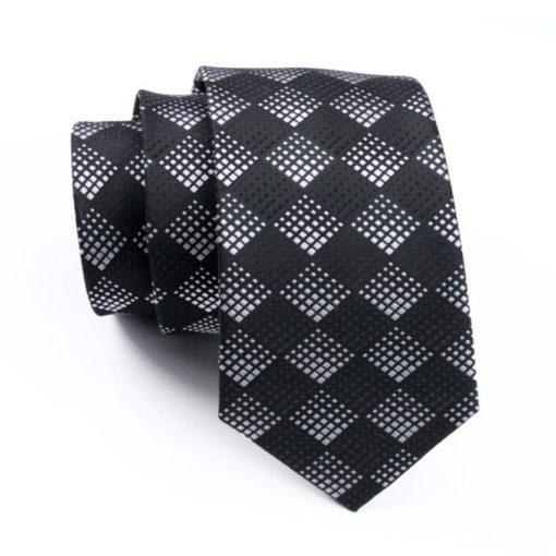 black_white_dotted_diamond_neck_tie_rack_australia