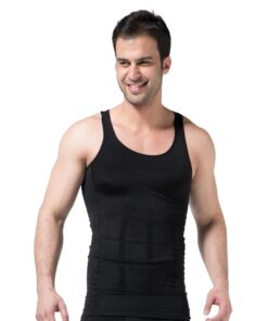 mens_Shapewear_body_suit_High_Waist_Panty_Body_Control_Tummy_Slim_Shaper_australia_front_Butt_Lifter_black